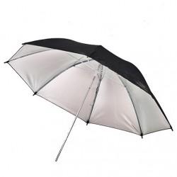 91cm Black/Silver Umbrella