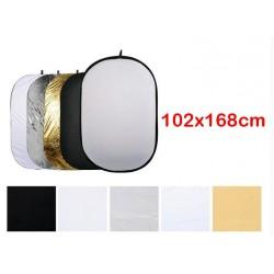 5in1 Square Reflector 92x122cm