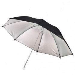 91cm Black/Silver Umbrella