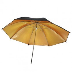 91cm Black/Gold Umbrella